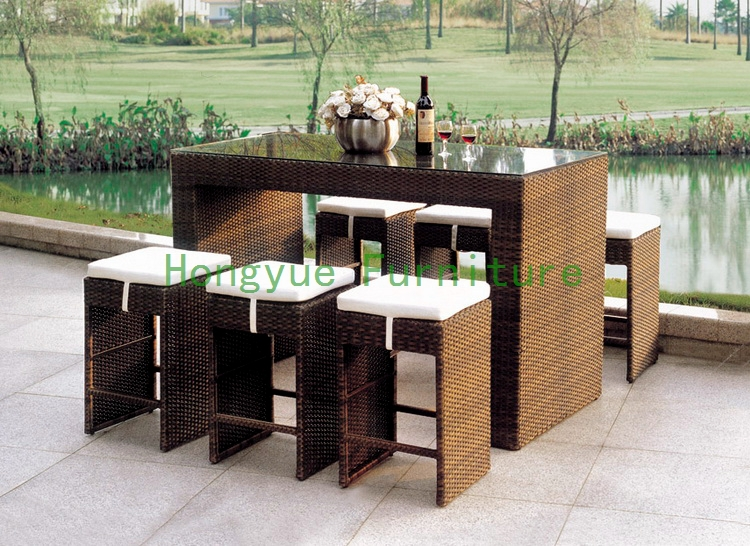 Buy outdoor modern bar furniture rattan for Muebles terraza rattan pvc chile