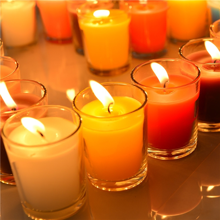 New Scented Birthday Weddings Candles Colorful Love Flameless DIY Candles Glass Holder Weddings Candles Birthday Decoration