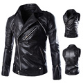 2016 Limited Ceket Mens Leathers Jackets Coats Man Pu Leather Clothing Sleeves Detachable Oblique Zippers Men Jacket Ourwear