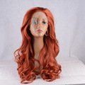 New Arrival Free Shipping Heat Resistant Brightly Orange Color Curly Synthetic Lace Front Wigs For Women