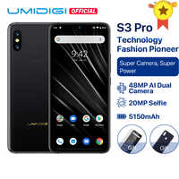 "UMIDIGI S3 PRO Android 9,0 48MP + 12MP + 20MP Super Kamera 5150mAh Big Power 128GB 6GB 6.3 ""FHD + NFC Keramik Globale bands Smartphone"