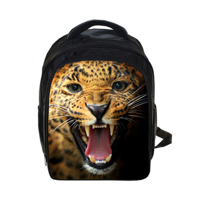 Halloween gift 3D animal tiger leopard Backpack Students School Bag For  Girls Boys Rucksack mochila children Backpack customize