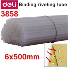 Riveting-Tube Binding-Machine Deli 100pcs/Lot Readstar 6x500mm Retail-Packing Retail-Packing
