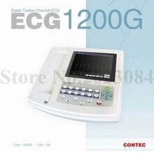 Free Shipping CONTEC ECG1200G Digital 12-Channel ECG / EKG Machine PC Software with Printer Free Print Paper(China (Mainland))