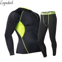 Mens Thermal Underwear Set Winter Warm Fast-Dry Technology Surface Elastic Force Long Johns Suit Compression Mens Pajamas Pijama