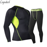 Mens Thermal Underwear Set Winter Warm Fast Dry Technology Surface Elastic Force Long Johns Suit Compression