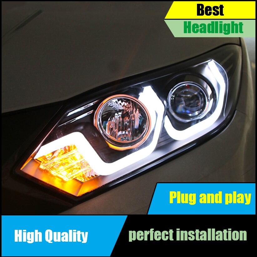 Car Styling For Honda HR-V HRV Vezel headlights Assembly 2015 2016 LED head lamp DRL front light Bi-Xenon Lens xenon Headlight