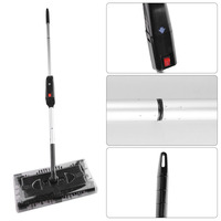 Electric Sweeper Hand push Type Mop Rechargeable Battery Dust Collector 360 Degrees Rotation Carpet Floor Cleaner