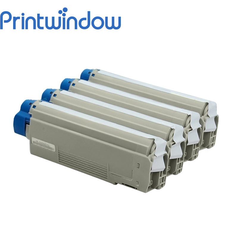 Printwindow Compatible Toner Cartridge for OKI C5600/C5700 4 pack high quality toner cartridge oki mc860 mc861 c860 c861 color printer full compatible 44059212 44059211 44059210 44059209