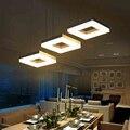 Modern led pingente luzes para sala de jantar sala de estar acrílico retângulo de alumínio projeto led luminária luminárias ac 85-265 v