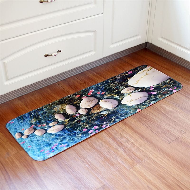 beibehang New fashion Europe and the United States long section mats kitchen bathroom non-slip mat living room entrance home mat