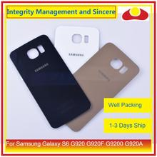 50 шт./партия для Samsung Galaxy S6 G920 G920F G9200 G920A корпус батарея Дверь Задняя стеклянная крышка корпус замена корпуса