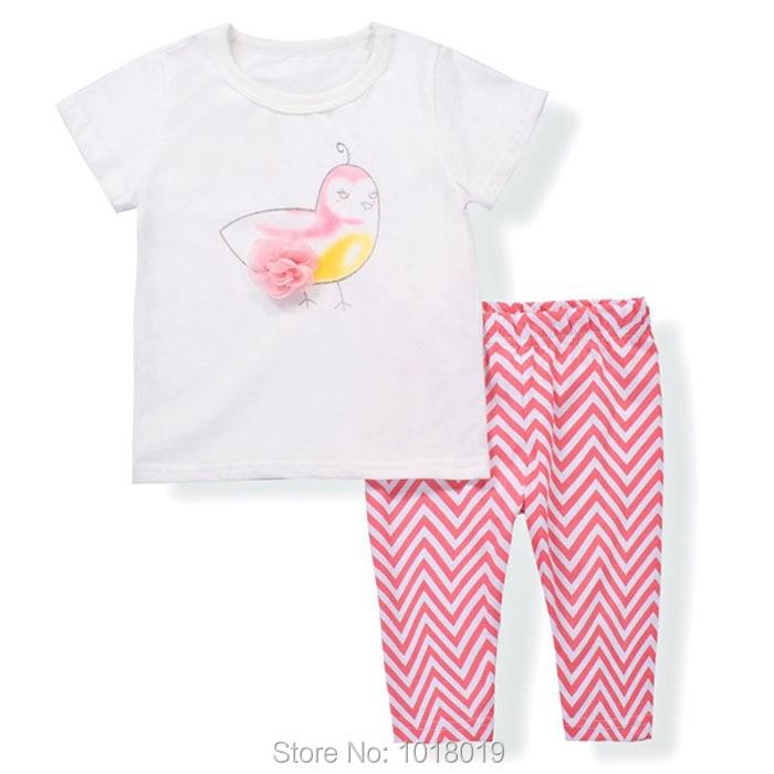 ffa82ee6f8 Nowy 2019 marka jakości 100% bawełna dziewczynek odzież ustawia krótki rękaw  dzieci ubrania letnie dziecko dziewczyny ubrania zestaw znosić