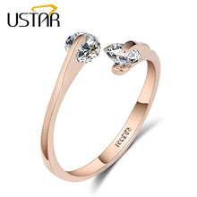 GH625 Gold Silver Plated Elegant CZ Diamond opening round Rings Jewelry For women Gifts, Mix $10