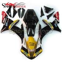 Инъекции Обтекатели для Yamaha YZF 1000 R1 Год 2002 2003 02 03 ABS мотоцикл комплект кузов Cowling Moto Carene желтый, черный