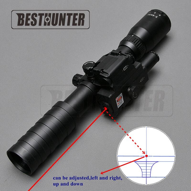3-9x32 Tactical Riflescope Red Dot Sight Outdoor Reticle Sight Optics Sniper Deer Tactical Hunting Scopes With Free Ring Mount kandar 6 18x56q front tactical riflescope big objective with glass plate riflescope military equipment for hunting scopes