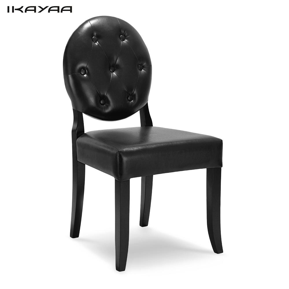 Ikayaa Classic Antique Style Tufted Kitchen Dining Chair