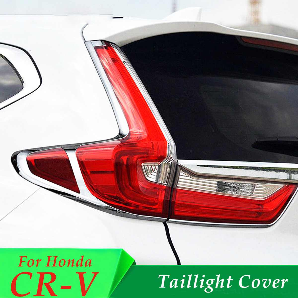 Chrome Taillight Lamp Rear Fog Cover Trims Moulding for Honda CRV for CR V 2017 2018 Auto Exterior Accessories Stickers