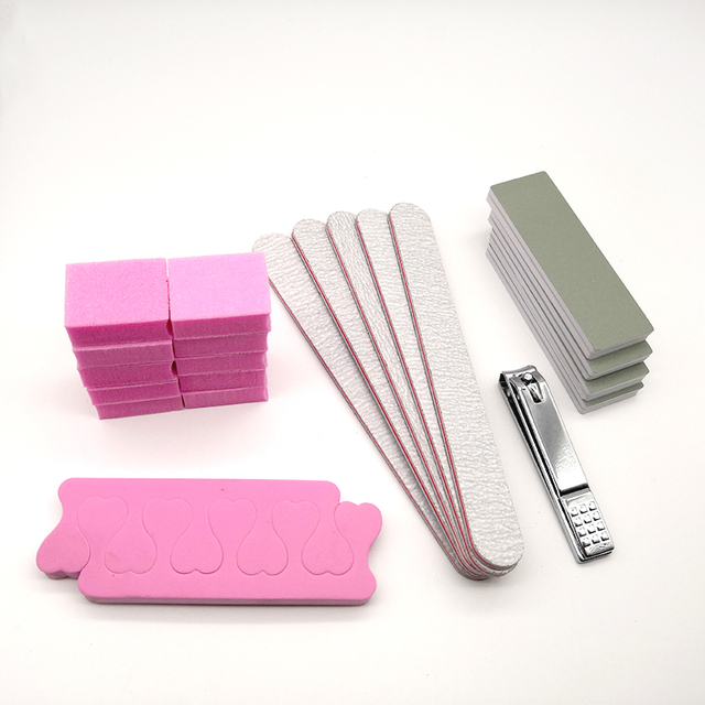 22pcs Acrylic Nail File Set Buff For Nails Buffer Block Nail Clipper ...