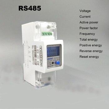 5 (65) 220 V 230 V 50 HZ 60 HZ corriente de voltaje de DDS238-2 ZN/S monofásico carril de Din de KWH vatios hora medidor de energía con RS485 MODBUS-RUT
