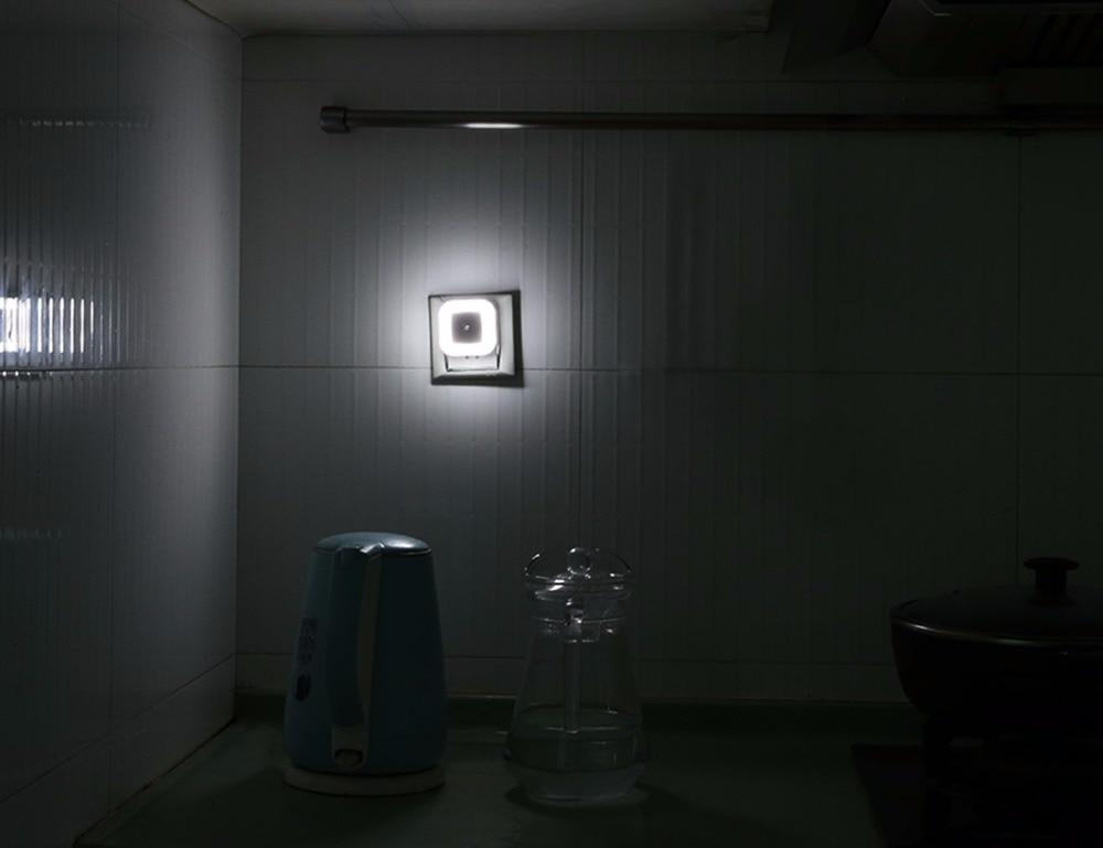 9 Light Sensor Control Night Light Mini EU US Plug Square wc toilet light Bedroom lamp For Baby Gift Romantic Colorful Lights