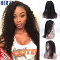 Фронта парик полный человеческих волос парики для чернокожих женщин афро передние парик человеческих волос, Природные женские волосы парики
