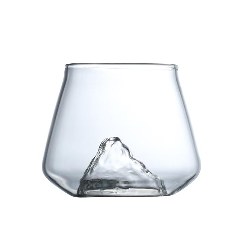 Mount Fuji Glass cup Tea Coffee Mug Milk Lemon Juice cup Cocktail Wine Glass Snow Mountain Beer Drinkware Lover Whiskey Cups