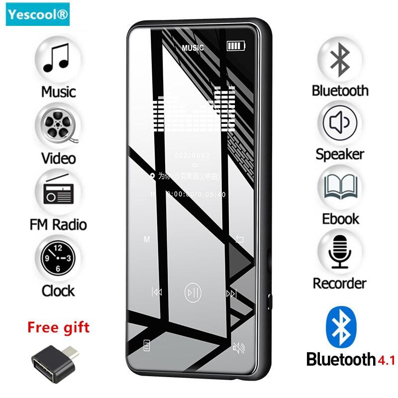 Yescool X8 8 GB métal touche lecteur MP3 Bluetooth 4.1 prend en charge la Radio FM E-book hifi Audio vidéo lecteur de musique Portable baladeur