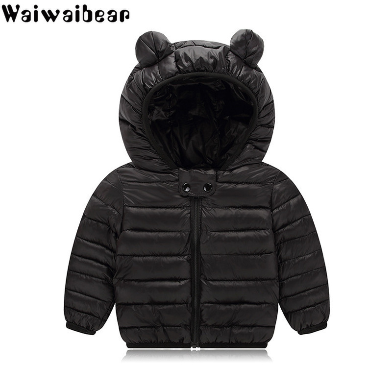 Waiwaibear Baby Winter Coats Down Jacket Kids Clothes Hooded Infant For Boys And Girls Coat With Ears YZ09