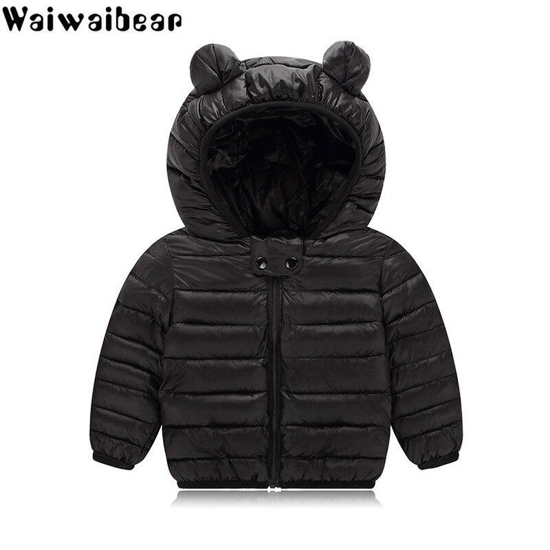 Gedisciplineerd Waiwaibear Baby Winter Jassen Down Jacket Kids Kleding Hooded Baby Donsjack Voor Jongens En Meisjes Baby Jas Met Oren Yz09 Lage Prijs