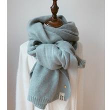 2018 Delle Donne di Cachemire Solido Sciarpe Della Signora di Inverno  Addensare Warm Morbida sciarpa di Pashmina Scialli Involuc. bd7f25c55fbf
