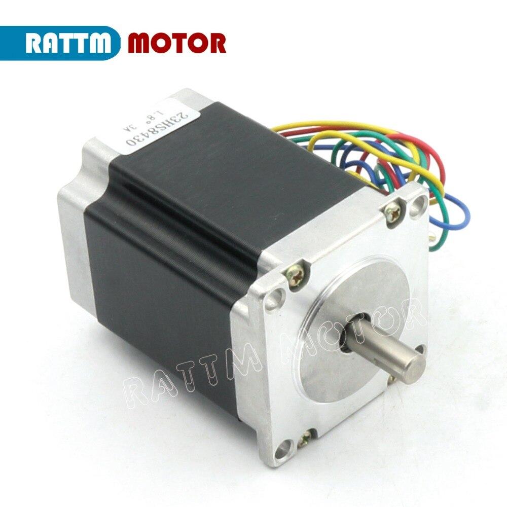 2 phases NEMA23 CNC moteur pas à pas 76mm 3A 270oz-in CNC moteur pas à pas moteur pas à pas imprimante 3D Robot mousse plastique métal