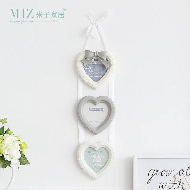 Miz Casa 3 Cajas de 4 Pulgadas en Forma de Corazón Colgante de Pared ...