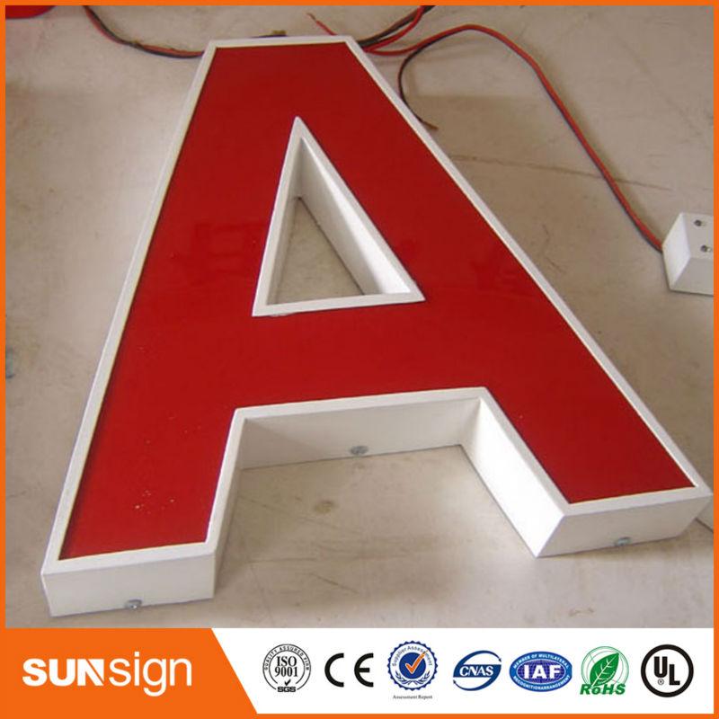 Sunsign Customized 3D Acrylic Frontlit Led Company Logo Sign