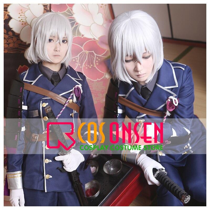 COSPLAYONSEN New Webgame Touken Ranbu Honebami Toushirou Cosplay Costume All Size