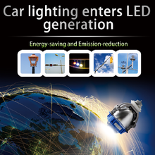 SANVI Bi LED Objectif Du Projecteur 35 W 6000 K Haute Faible Faisceau Auto éclairage De Voiture-style LED Phare ampoules