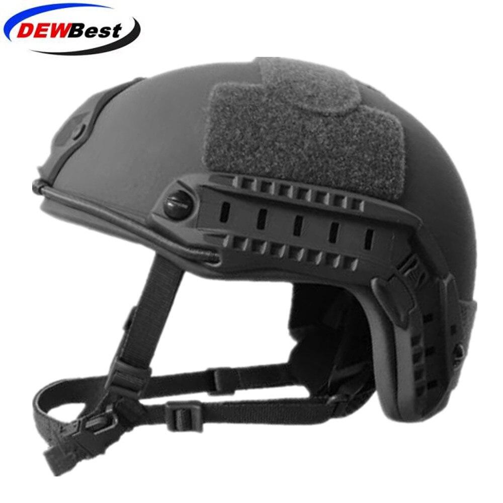 ISO Certified DEWBest bullet proof brand NIJ Level IIIA FAST High Cut Bulletproof Aramid Ballistic Helmet