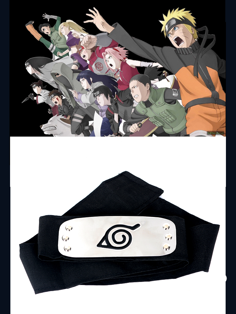 Naruto Ninja Stirnband Konoha Sasuke Hatake Kakashi Anime Manga Cosplay Kostüm