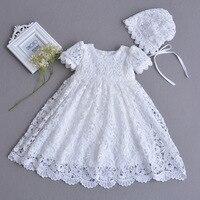 Vestidos de bebé Vintage para niñas cumpleaños sin mangas princesa Vestido recién nacido niña Vestido de bautismo Menina 1 año Vestido Infantil 12M