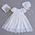 Vintage Baby Jurken voor Meisjes Verjaardag Mouwloze Prinses Jurk Pasgeboren Meisje Doop Gown Menina 1 Jaar Vestido Infantil 12M