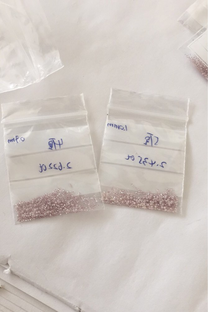 20pcs 1mm pink Diamond цена