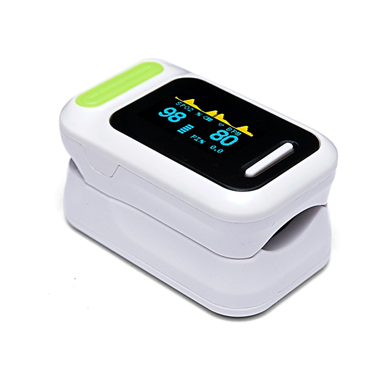 Finger clip pulse oximeter heart rate meter PI perfusion oxygen saturation detector