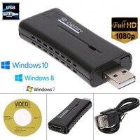 USB 2.0 HD uchwycić Full HD 1080P Mini przenośny Port 1 HDMI wideo karta przechwytująca na PC Laptop wsparcie windows 7 8 10 Vista w Adaptery AC/DC od Elektronika użytkowa na