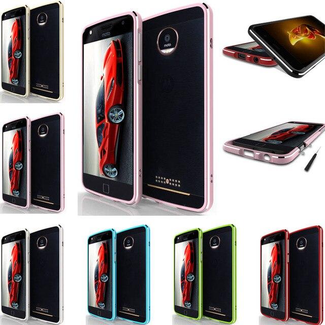 "For Motorola Moto Z Case Luxury Metal Frame with Screws Case Cover for Motorola Moto Z XT1650 5.5"" Mobile Phone Bumper Covers"
