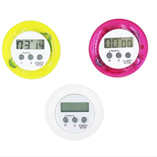 high quality round electronic timer LCD Digital Kitchen Countdown Timer Timing tool with stand  30%OFF