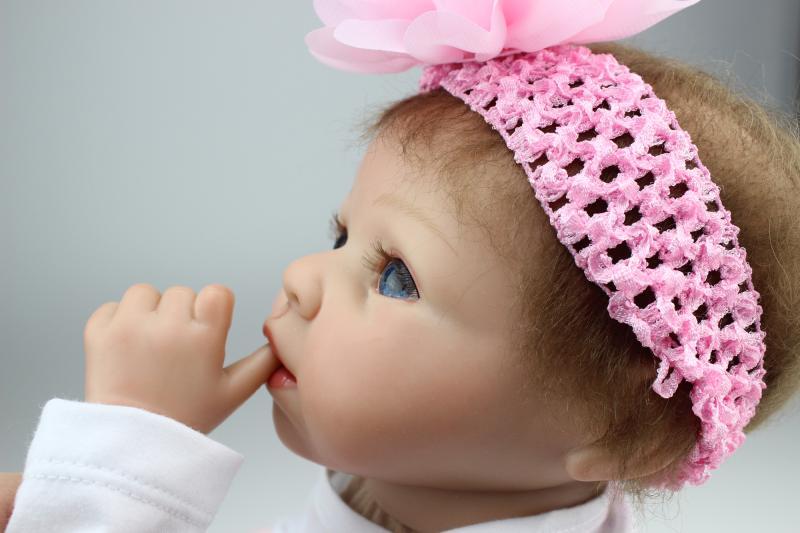 Free shipping silicone reborn dolls boneca bebe reborn menina reborn doll kits vinyl baby dolls for girls