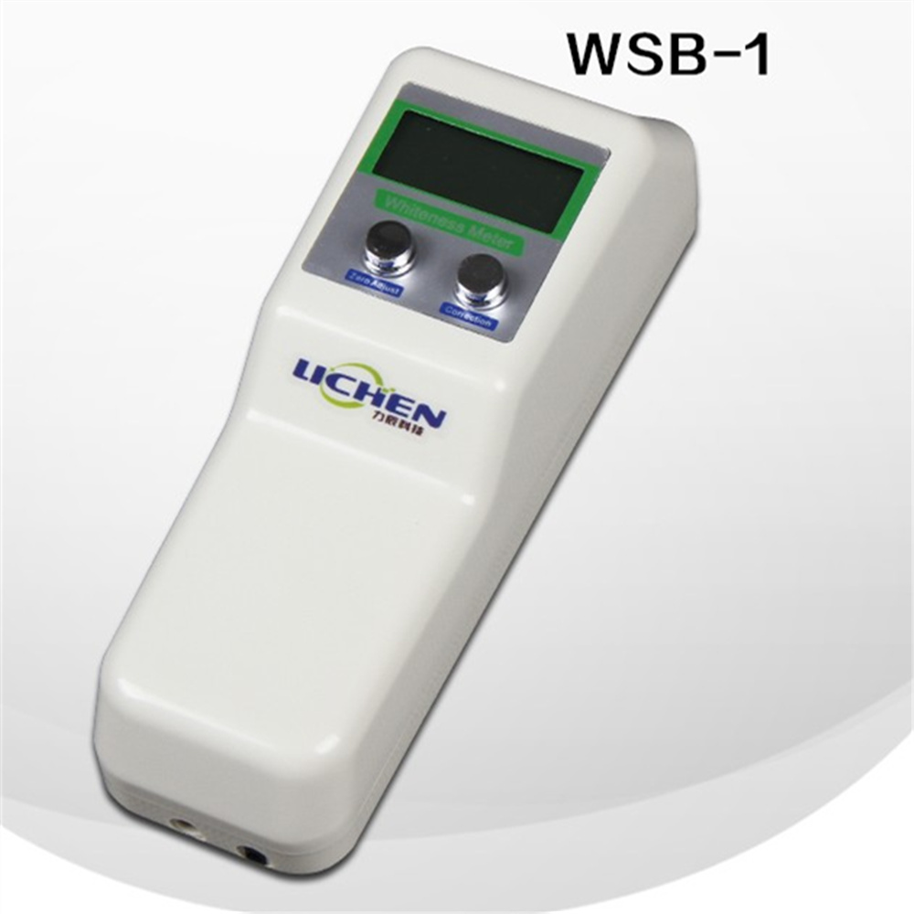 WSB-1 Portable digital whiteness meter Handheld whiteness tester For paper/Flour/Paint/Spinning  with aluminum box for EMS