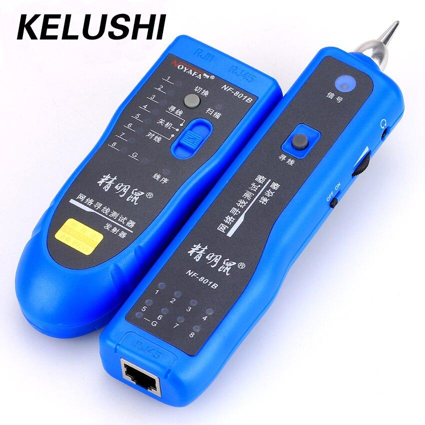 KELUSHI livraison gratuite réseau RJ11 RJ45 réseau LAN câble tracker localisateur de défaut et testeur de câble LAN testeur de câble NF-801B