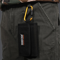 Seibertron Tactical Men S Pocket Money Purse Wallet Gear Black Brown Sport Micro Wallet RFID Blocking