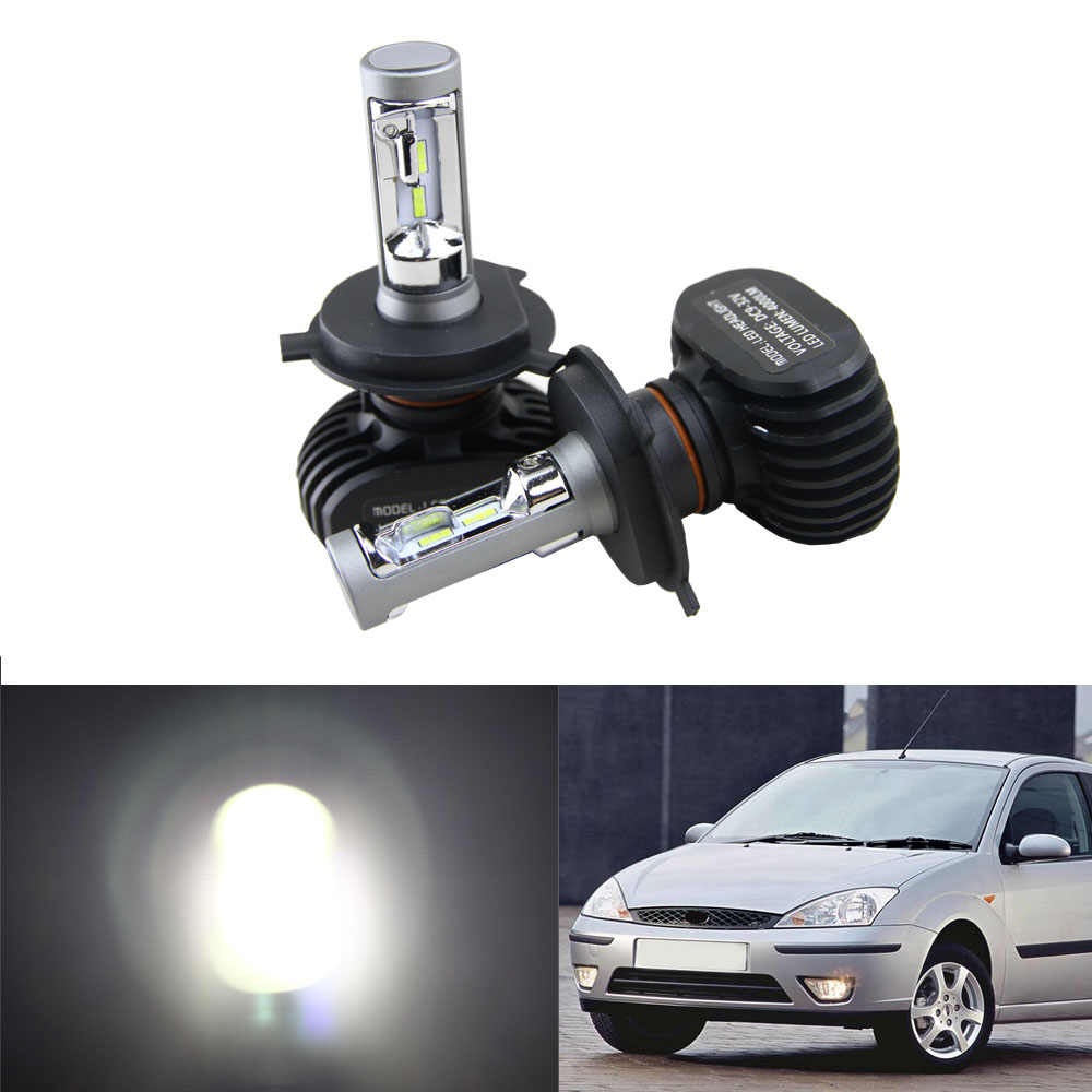 High Power 50W 8000LM H4 9003 HB2 LED Headlight High Low Hi Lo Beam Light For 2000-2004 Ford Focus White Car Bulbs Headlamp